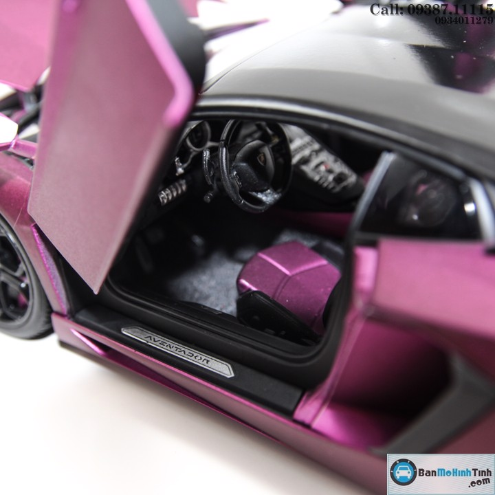 MÔ HÌNH LAMBORGHINI AVENTADOR LP700 PURPLE 1:18 WELLY-FX
