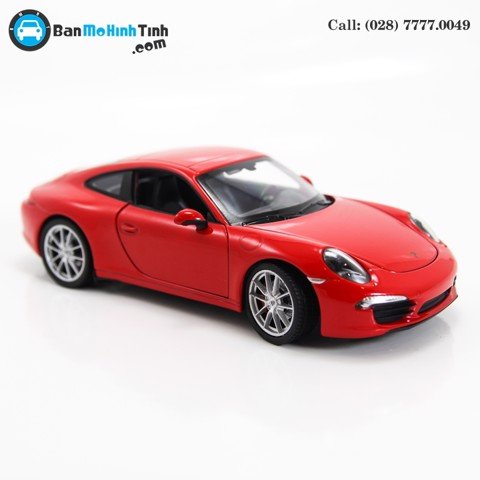 MÔ HÌNH PORSCHE 911 (997) CARRERA S RED 1:24 WELLY MH- 24040R