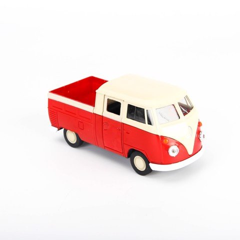 MÔ HÌNH VOLKSWAGEN DOUBLE CABIN PICK UP CONVERTIBLE RED 1:36 WELLY