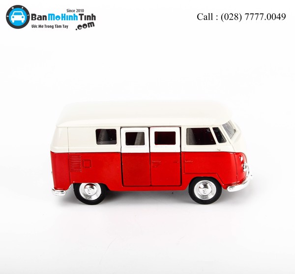 MÔ HÌNH VOLKSWAGEN T1 CLASSICAL BUS RED 1:36 WELLY