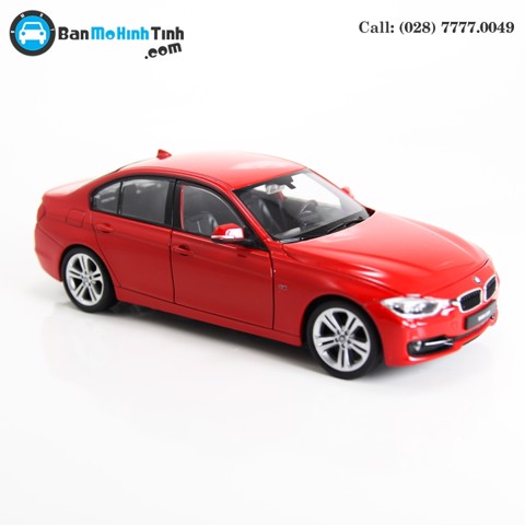 MÔ HÌNH BMW 335i RED 1:24 WELLY- 24039