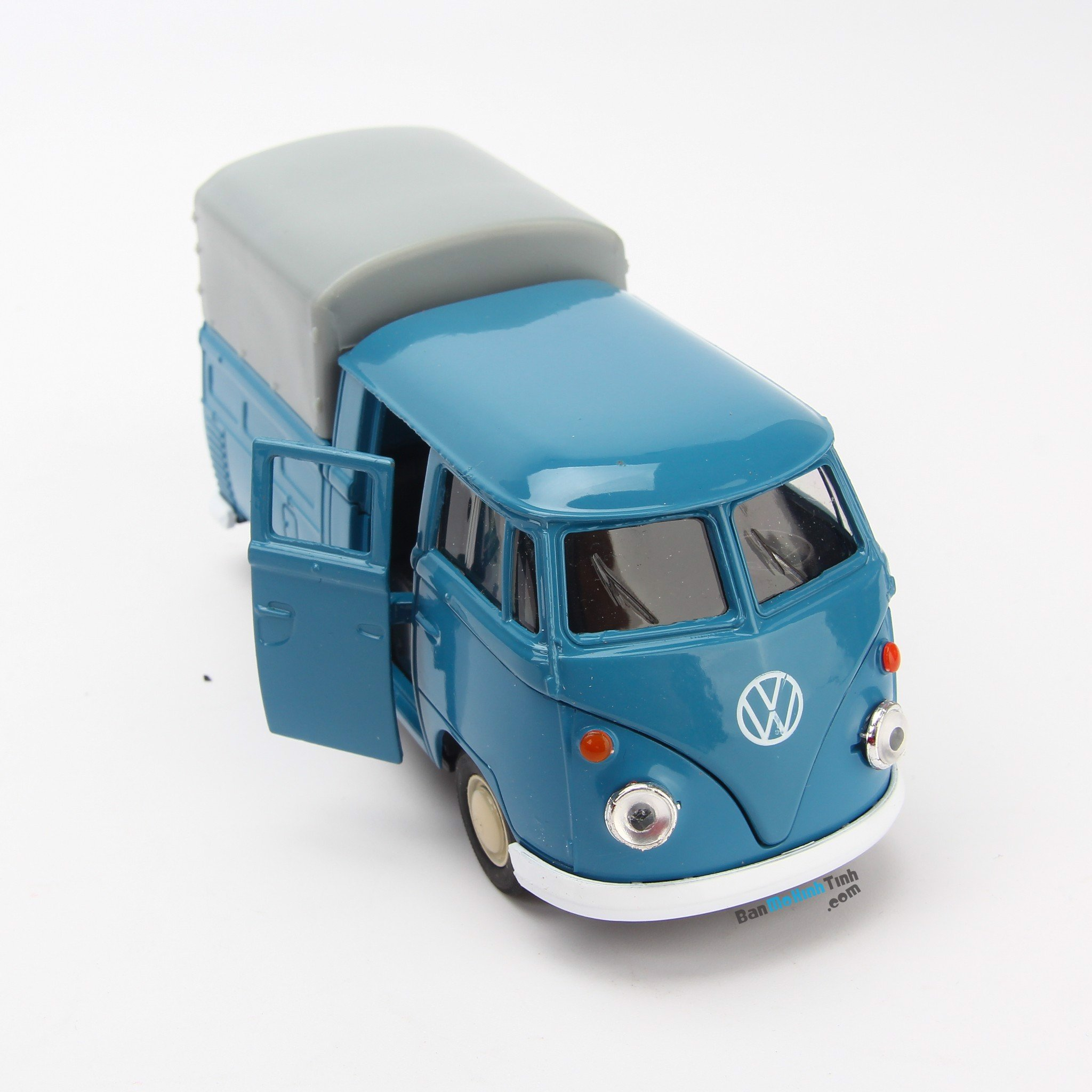 Mô hình xe Volkswagen Double Cabin Pick Up 1:36 Welly Blue- 43603H