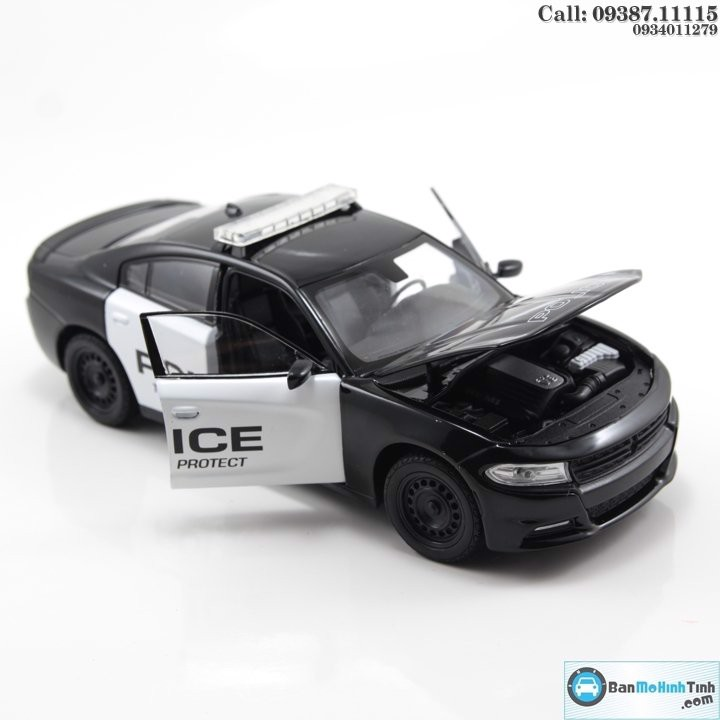 Mô hình xe Dodge Charger R/T 2016 Police 1:24 Welly- 24079