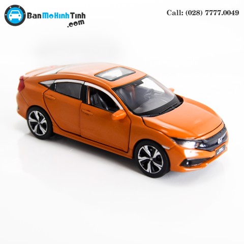 MÔ HÌNH HONDA CIVIC ORANGE 1:32 JACKIE KIM
