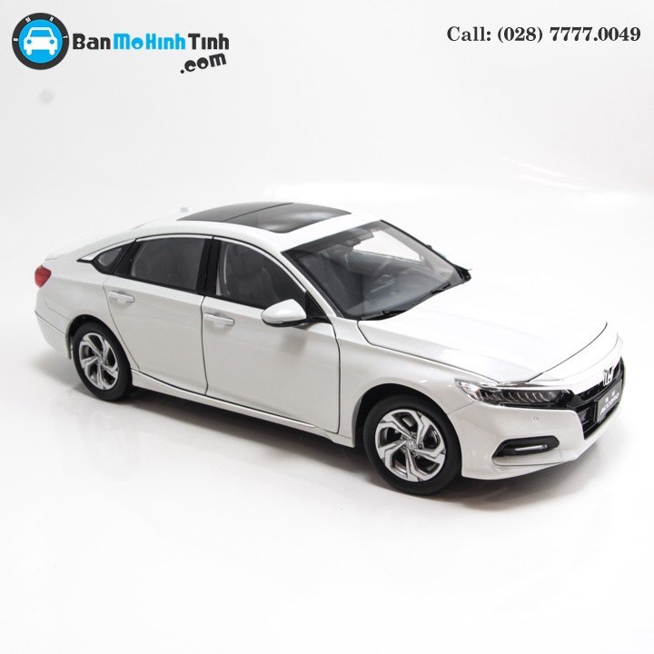 MÔ HÌNH HONDA ACCORD 2018 WHITE 1:18 DEALER