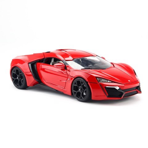 Mô hình xe Lykan Hypersport Fast and Furious 7 Red 1:18 Jada