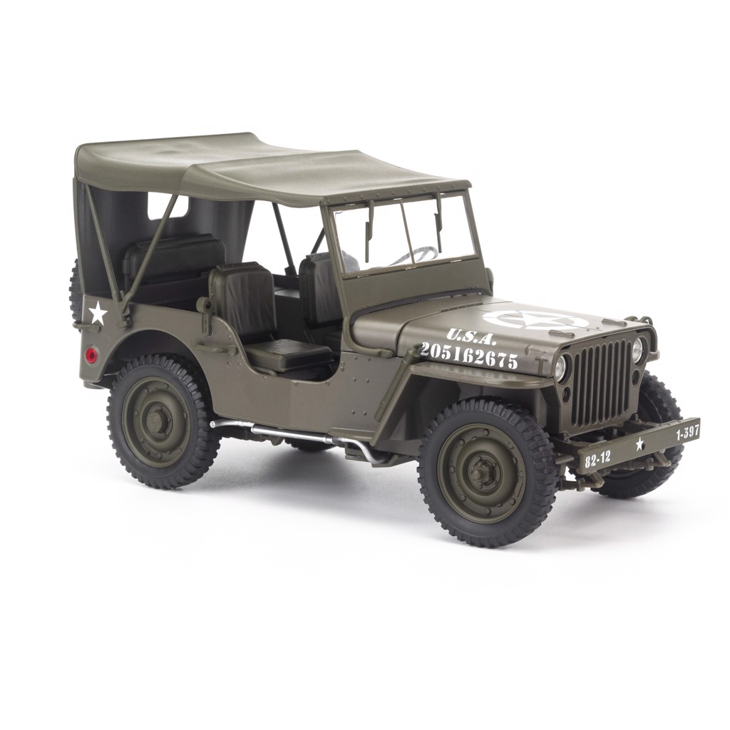 Mô hình xe Jeep 1941 Willys Hard Top Edition 1:18 Welly -18055