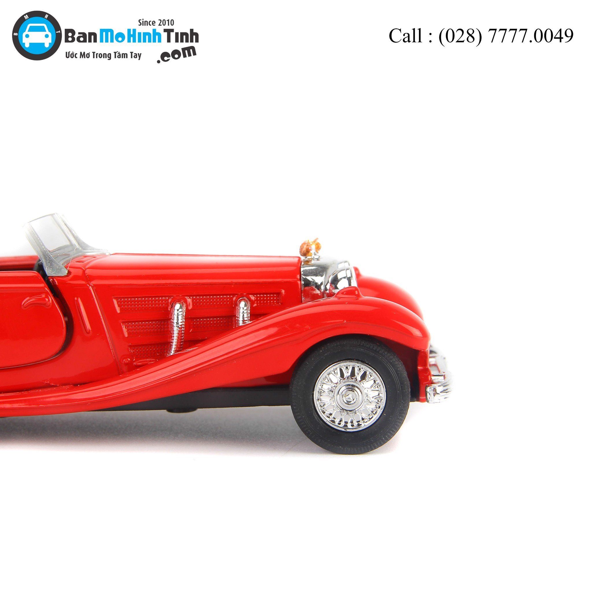 Mô hình xe Mercedes-Benz 500K Type Convertible Red 1:36 Welly- 98879C