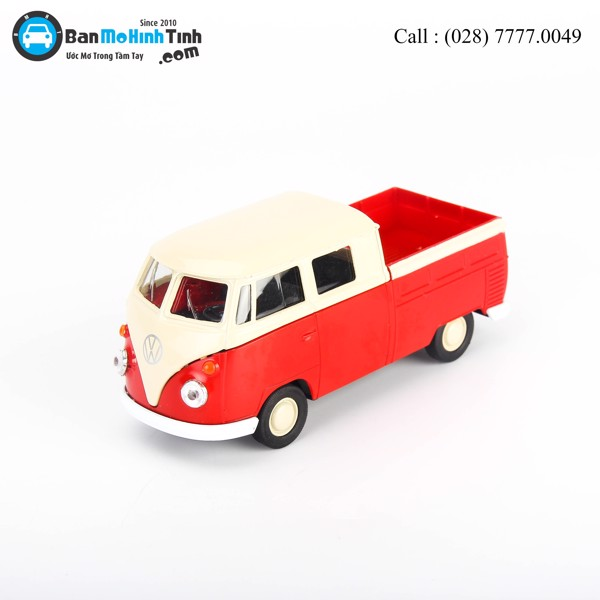 Mô hình xe Volkswagen Double Cabin Pick Up Convertible Red 1:36 Welly- 43603DT