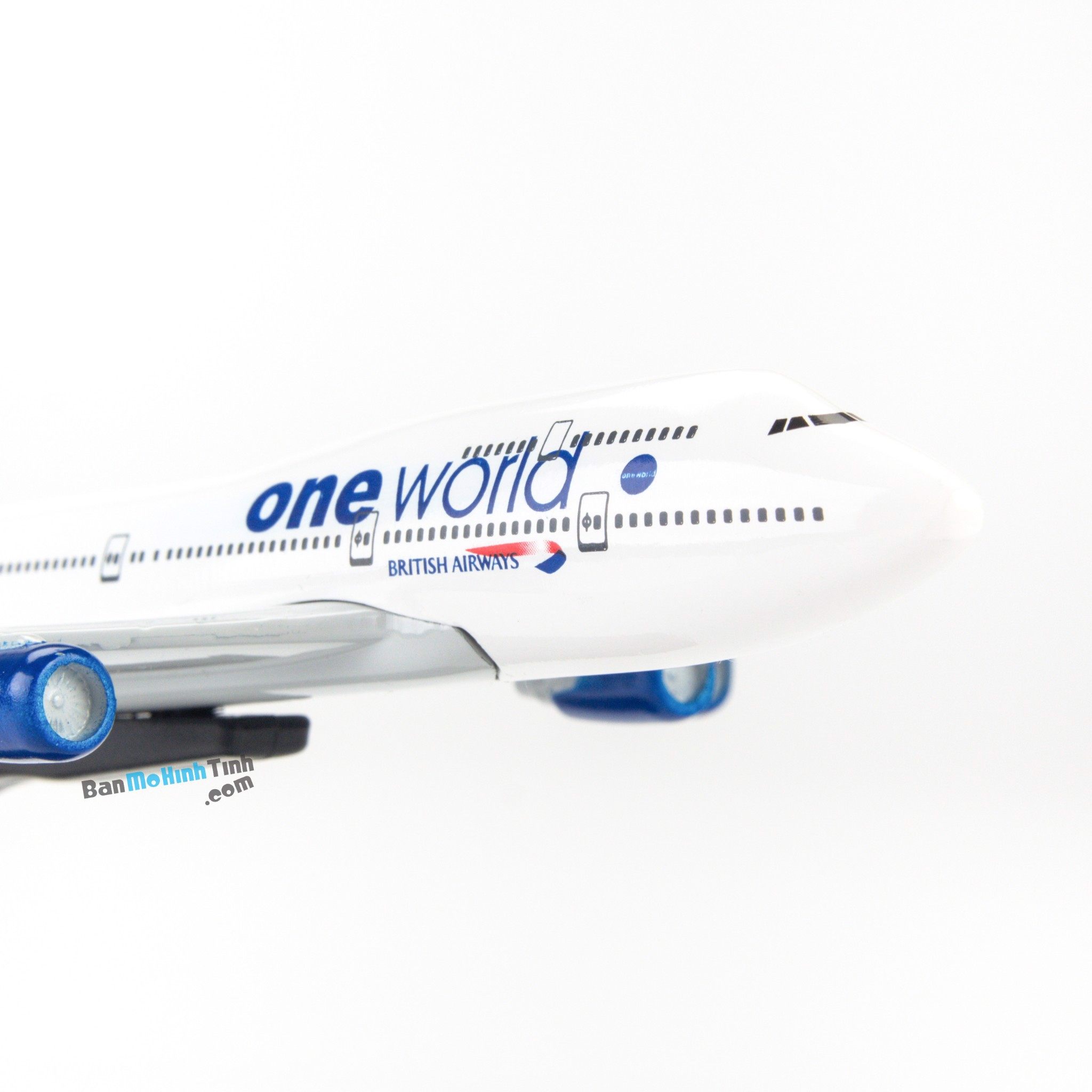 Mô hình máy bay One World British Airways Boeing B747 16cm Everfly