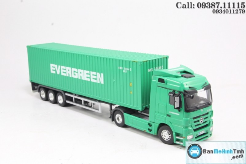 MÔ HÌNH MERCEDES-BENZ ACTROS - EVERGREEN CONTAINER 1:50 DEALER