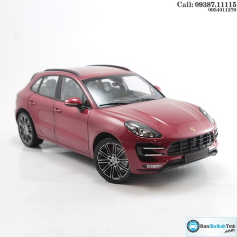MÔ HÌNH PORSCHE MACAN TURBO 2013 RED 1:18 MINICHAMPS