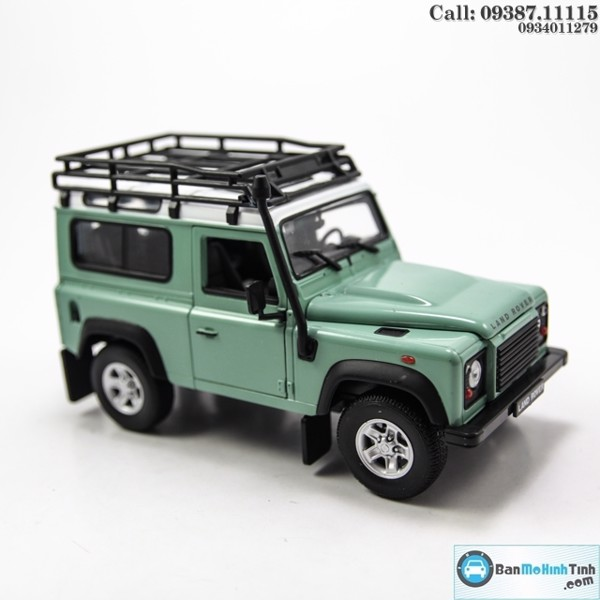 Mô hình xe Land Rover Defender Offroad Edittion Lightgreen 1:24 Welly