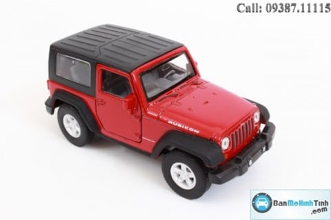 Mô hình xe ô tô Ô TÔ  Mô hình xe ô tô Ô TÔ JEEP WRANGLER RUBICON RED 1:36 WELLY