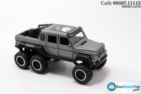 MÔ HÌNH MERCEDES BENZ G63 AMG 6X6 GREY 1:32 NEWAO ALLOY
