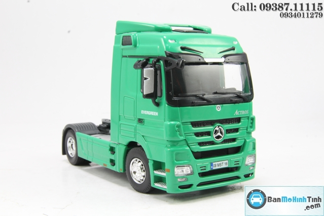 XE MO HINH MERCEDES-BENZ ACTROS EVERGREEN CONTAINER 1:50 DEALER