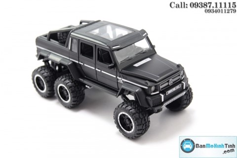 MÔ HÌNH MERCEDES BENZ G63 AMG 6X6 BLACK1:32 NEWAO ALLOY