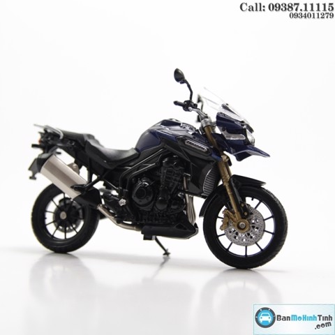 MÔ HÌNH TRIUMPH TIGER EXPLORER BLUE 1:18 WELLY-12836