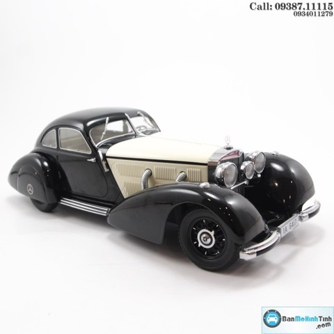 MÔ HÌNH MERCEDES 540K TYPE W24 BLACK/ WHITE 1:18