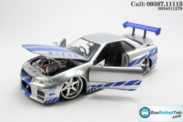 XE Mô hình xe ô tô BRIAN NISSAN SKYLINE GTR R34