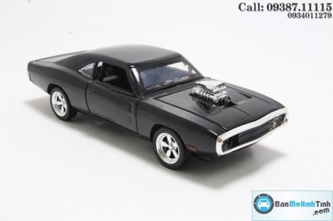 MÔ HÌNH DODGE CHALLENGER FAST AND FURIOUS BLACK 1:32 MINIAUTO