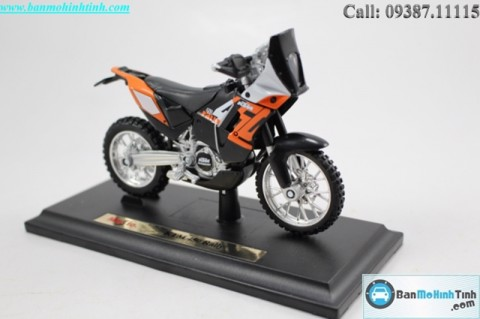 MÔ HÌNH  KTM 450 RALLY ORANGE 1:18 MAISTO MH-20-13067
