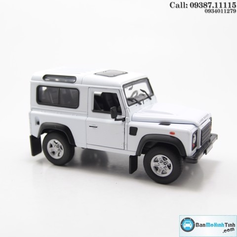 MÔ HÌNH LAND ROVER DEFENDER WHITE 1:24 WELLY
