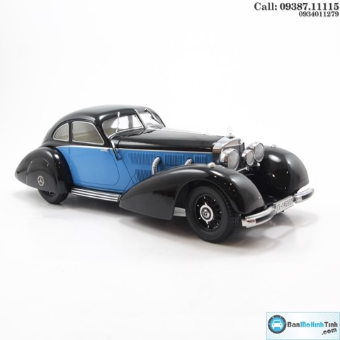 MÔ HÌNH MERCEDES 540K TYPE W24 BLACK/ BLUE 1:18