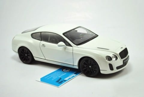 Mô hình xe Bentley Continental Supersport White 1:18 Welly