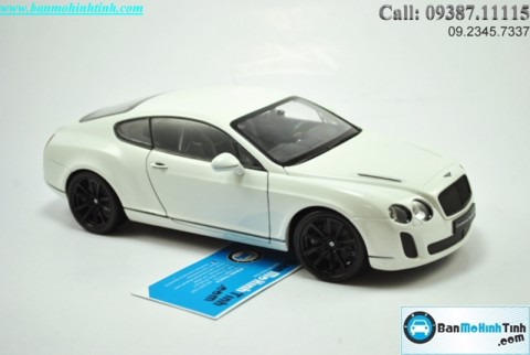 XE MÔ HÌNH TRƯNG BÀY XE MÔ HÌNH TRƯNG BÀY BENTLEY CONTINENTAL SUPERSPORT WHITE 1:18 WELLY