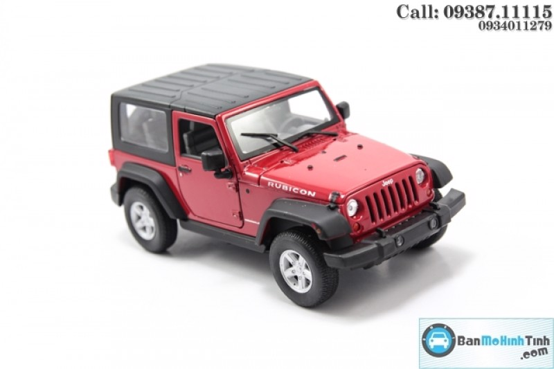 MÔ HÌNH JEEP WRANGLER RUBICON RED (CLOSED TOP) 1:24 WELLY