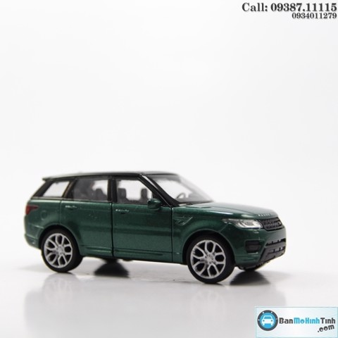 MÔ HÌNH LAND ROVER RANGE ROVER SPORT DARK GREEN 1:36 WELLY