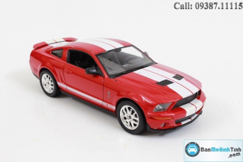 MÔ HÌNH SHELBY COBRA GT500 2007 RED 1:24 WELLY