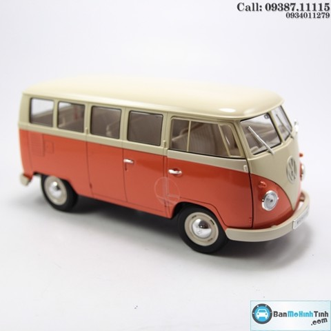 MÔ HÌNH VOLKSWAGEN T1 BUS ORANGE (1963) 1:18 WELLY
