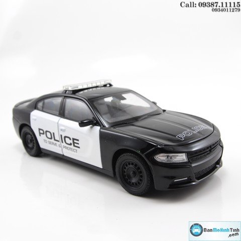 MÔ HÌNH DODGE CHARGER R/T 2016 POLICE 1:24 WELLY- 24079