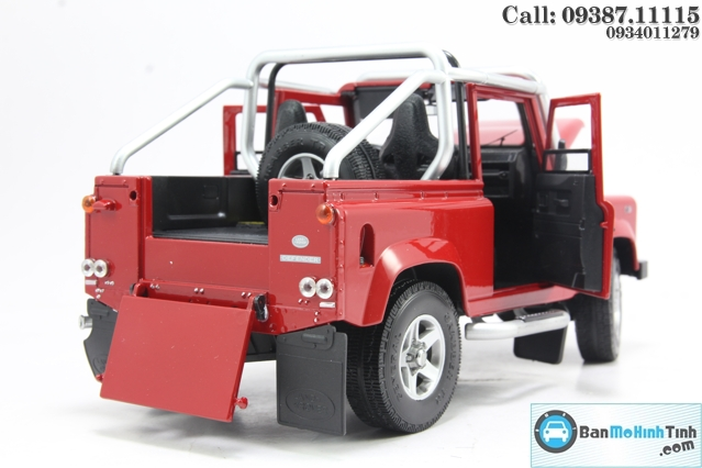 MO HINH XE LAND ROVER DEFENDER 90 RED 1:18 DEALER