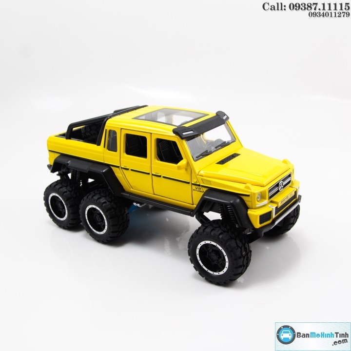 MÔ HÌNH MERCEDES BENZ G63 AMG 6X6 YELLOW 1:32 NEWAO ALLOY