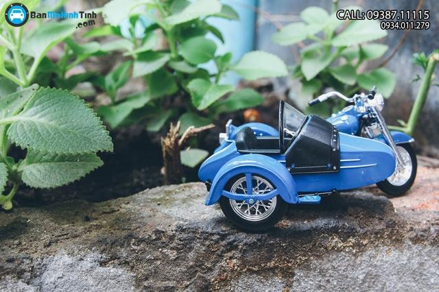 Mô hình xe mô tô MÔ TÔ FL HYDRA GLIDE 1952 BLUE