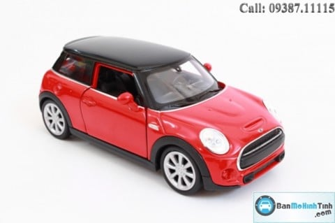XE MÔ HÌNH NEW MINI COOPER HATCH RED 1:36 WELLY
