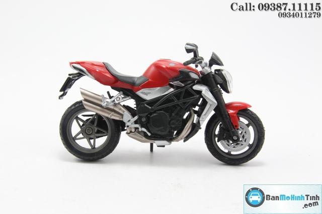 Mô hình xe mô tô MÔ TÔ-AGUSTA BRUTALE 990R RED