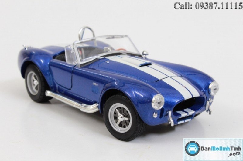 MÔ HÌNH SHELBY COBRA 427 1965 BLUE 1:24 WELLY