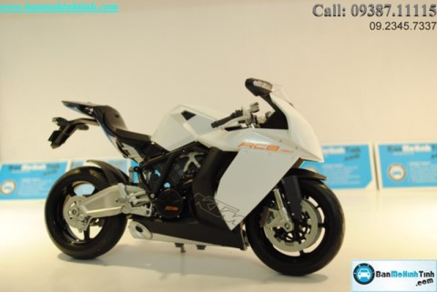 MÔ HÌNH  KTM RC8 WHITE 1:10 WELLY