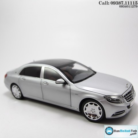 MÔ HÌNH MERCEDES-BENZ MAYBACH S-CLASS SILVER 1:18 ALMOST REAL