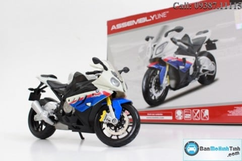 MÔ HÌNH  BMW S1000RR WHITE MODEL KIT 1:12 MAISTO
