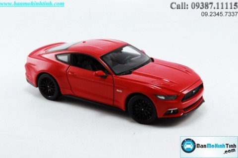 XE MÔ HÌNH TRƯNG BÀY XE MÔ HÌNH TRƯNG BÀY FORD MUSTANG GT (2015) RED 1:24 WELLY