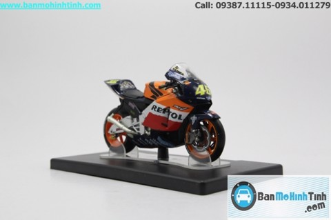 MÔ HÌNH HONDA RC211V WORLD CHAMPION 2003 1:18 LEO