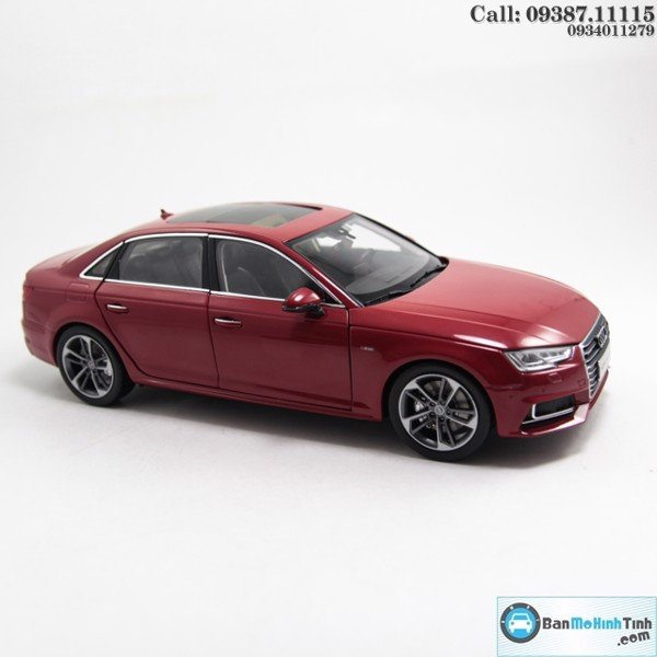 MÔ HÌNH AUDI A4 ALL NEW 2017 SEDAN RED 1:18 DEALER