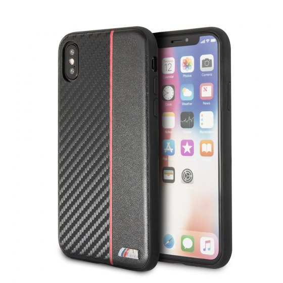 (B6) Bao da BMW - Carbon PU (iPhone XS Max)