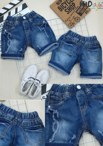 Quần short jean cotton