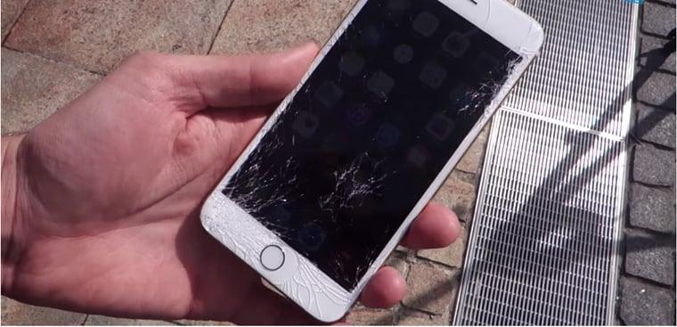 iphone 6 bị rơi vỡ dẫn đến hư hỏng camera